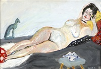 reclining nude by natta konisheva