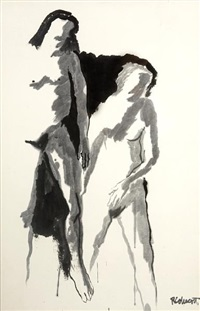 untitled (two figures; study) by robert h. colescott