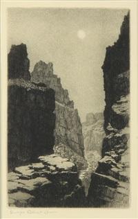arizona canal, phoenix; fish creek, apache trail, arizona; a mirage, arizona (no. 2)(3 works) by george elbert burr
