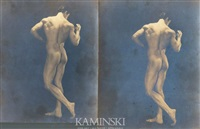 nude physique portraits of anthony j. sansone (italian-american 1905 - 1987) (2 works) by edwin f. townsend