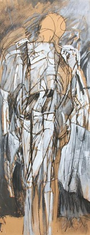 untitled standing figure by jan stussy