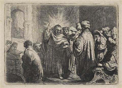 the tribute money by rembrandt van rijn