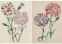 untitled (flowers)(8 works) by frederick smith