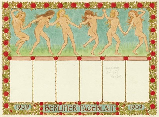 berliner tageblatt reigen sommerreigen by hugo hoppener fidus