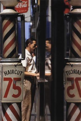 barbershop by saul leiter