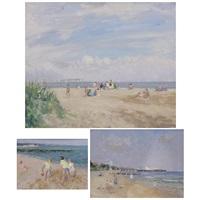 beach scene by g. wilson