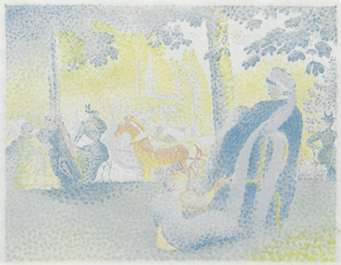 in den champs elysées by henri edmond cross