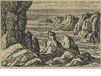 rocky promontory by birger sandzen