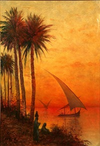 the nile sunset by william henry hilliard