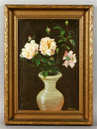 still life with roses by william h. machen