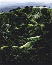 california (suite of 4) by eyvind earle