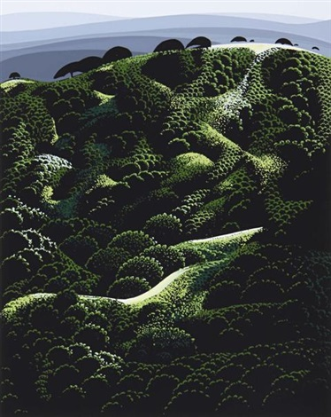 california suite of 4 by eyvind earle
