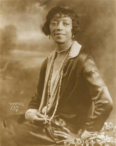 portrait of a woman by james van der zee