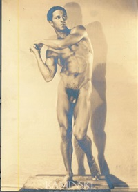 nude physique portrait of anthony j. sansone (italian-american 1905 - 1987) by edwin f. townsend