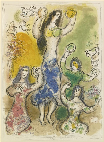 the story of the exodus portfolio of 24 by marc chagall