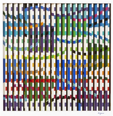 untitled composition by yaacov agam