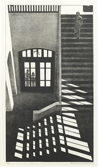 interior by louis lozowick