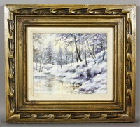 snow scene by walter launt palmer