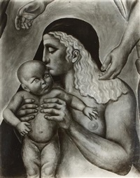 untitled (mural study of the mother by orozko) by tina modotti