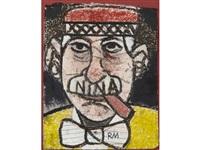 good-bye al (self portrait with nina) by richard marshall merkin
