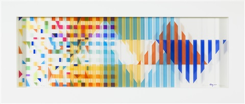 untitled polymorphic wall sculpture by yaacov agam