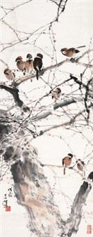 雀嬉图 by yang shanshen