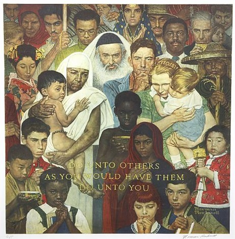 golden rule by norman rockwell