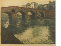 ponte pietra verona by frits thaulow