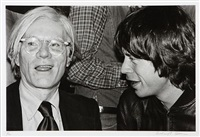 andy warhol and mick jagger by richard e. aaron