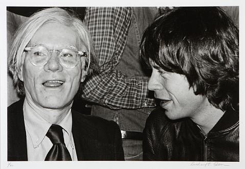 andy warhol and mick jagger by richard e aaron