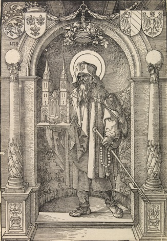 saint sebald in a niche by albrecht dürer