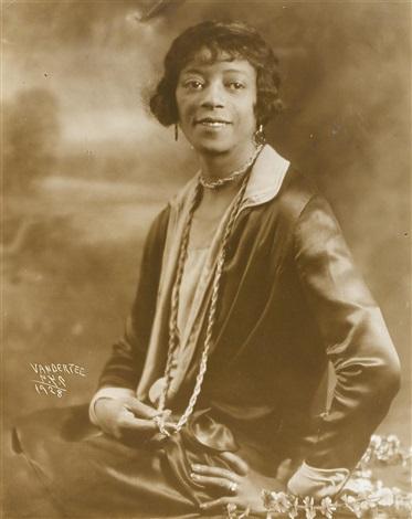 portrait of a woman by james van der zee