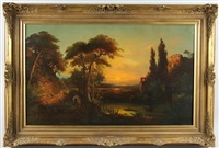 italian romantic landscape by william stanley haseltine