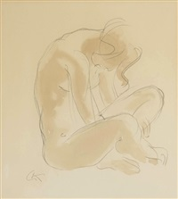 untitled (seated figure) by georg kolbe