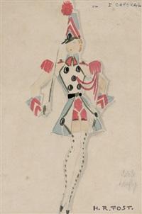 fünf kostümentwürfe by h.r. fost