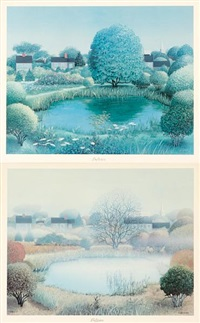 the seasons of nantucket (set of 4) by robert bushong