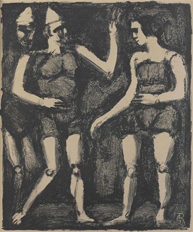 ecuyere pl 2 and parade pl 3 2 works from maîtres et petits maîtres daujourdhui by georges rouault