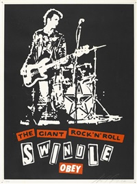 the giant rock and roll swindle by shepard fairey