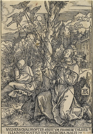 st francis receiving the stigmata by albrecht dürer