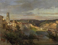 a view of freiburg, switzerland by jean-joseph reichlen