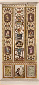 architectural panels of the raphael's vatican loggia (2 works after teseo taurinesis) by joannes volpato