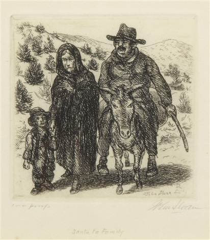 santa fe family by john french sloan