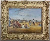 beach scene by louis basset