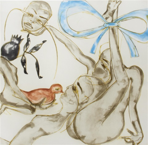 blue ribbon by francesco clemente