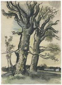 zwei bäume im vorfrühling by hans goetsch