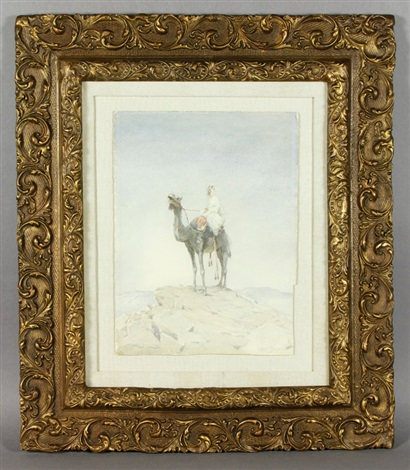 arab on camel by louis comfort tiffany