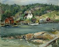 norwegische fischerhäuschen by rudolf jacobi
