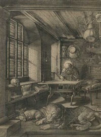 hieronymus im gehäus by albrecht dürer
