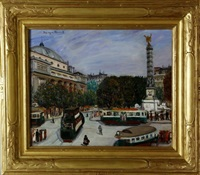 place de la bastille by morgan russell