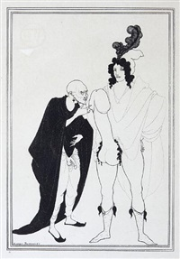 cinesias soliciting myrrhina (from aristophanes, lysistrata + 4 others; 5 works) by aubrey vincent beardsley